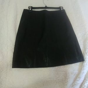 1. State Black Faux leather A line skirt size 4
